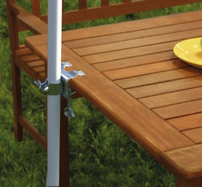 Halteklammer für Sonnenschirm Tischausführung