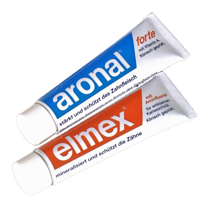 Elmex/Aronal Nachfüllpack zum Zahnputzset mit 2 Tuben