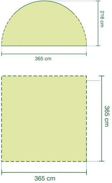 Coleman Event Pavillon 3,6 x 3,6 Meter