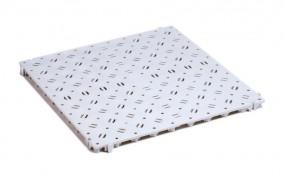 Kunststoff-Bodenrost Clippy grau 50 x 50 cm