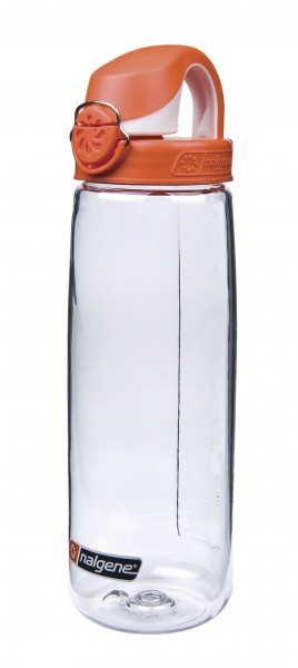 Nalgene 'Everyday OTF' 0,7 L, transp.,Deckel orange