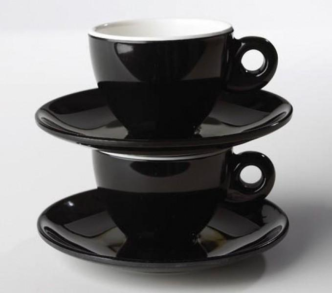 Espresso-Set Quadrato Black and White