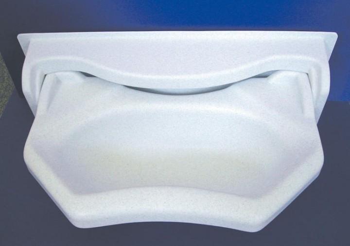 Klappwaschbecken weiß
