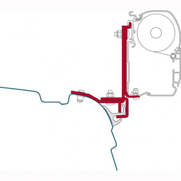 Fiamma Adapter F45 Kit Brandrup VW T5