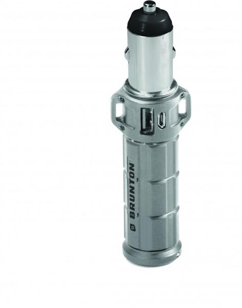Brunton USB Ladegerät-Speicher 'Torpedo 2800' silber