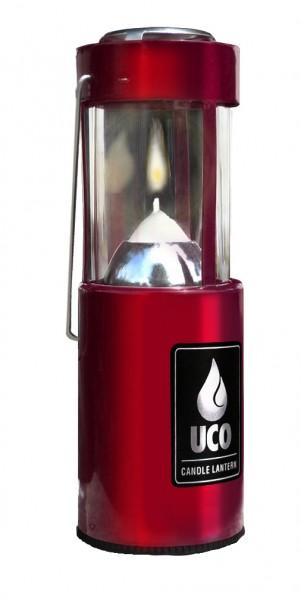 UCO Kerzenlaterne Alu, anodisiert, rot