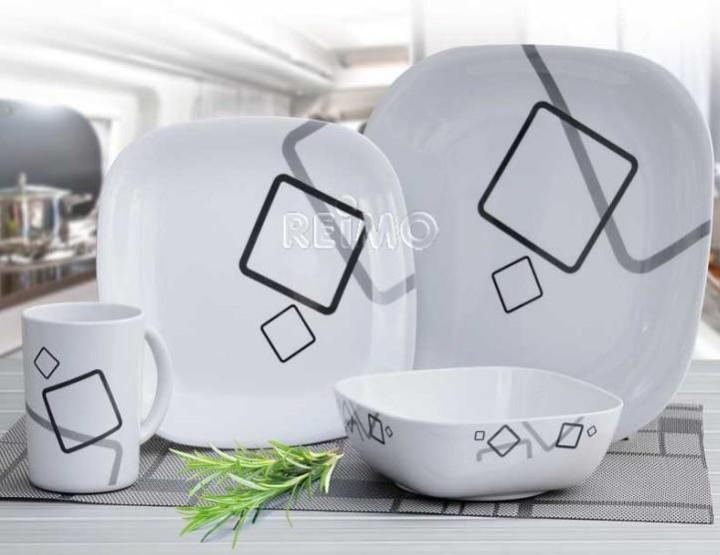 melamin geschirrset cuneo camping outdoor zubeh r. Black Bedroom Furniture Sets. Home Design Ideas