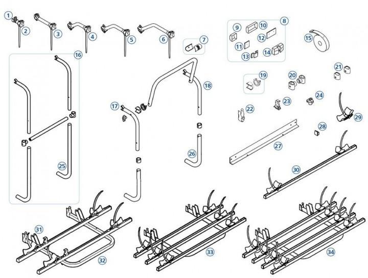Endkappen für Thule|Omnibike-Schienen - Endkappe Quick-Blocker-Schiene