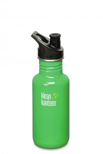 Klean Kanteen Flasche 'Classic' Sports Cap grün 0,532 L