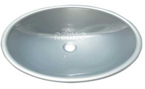 Einlege Waschbecken Oval für Wohnmobil