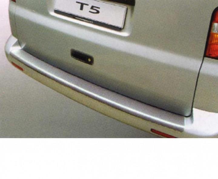 Ladekantenschutz für VW T5 silber schwarze Kunststoffstoßstange