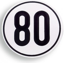 Geschwindigkeit Begrenzungsschild 80 km/h