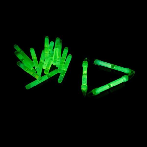 Knicklicht, 3,9 cm, Box mit 40 x 2 Stück grün