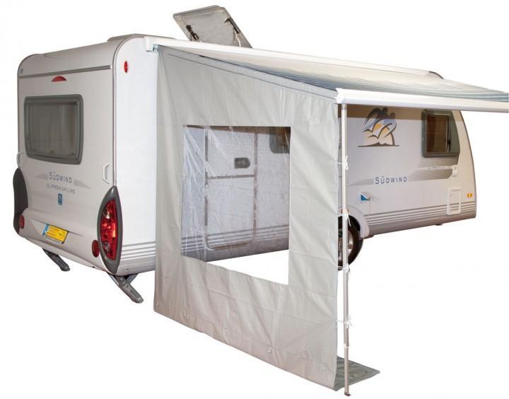 Universal Markisen Seitenwand mit Fenster für Wohnwagen und Reisemobil 250 cm