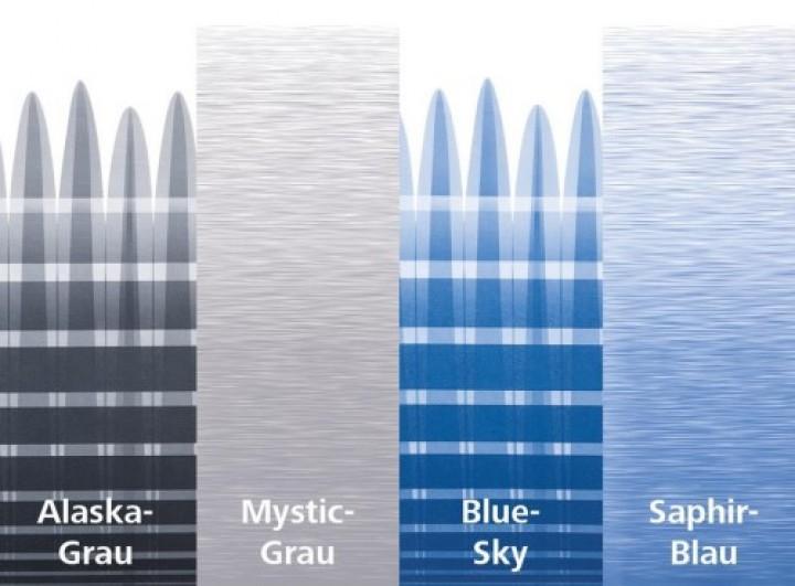 Thule Omnistor 6200 weiß Länge 4,5 m Saphir-Blau