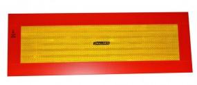 Heck- und Seitenwarntafel Alu 190 x 1130 x 1 mm