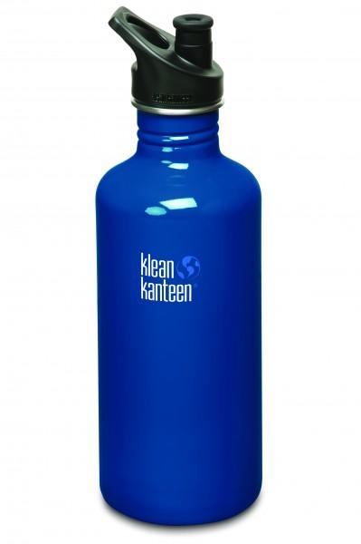 Klean Kanteen Flasche 'Classic' Sports Cap dunkelblau, 1,182 L