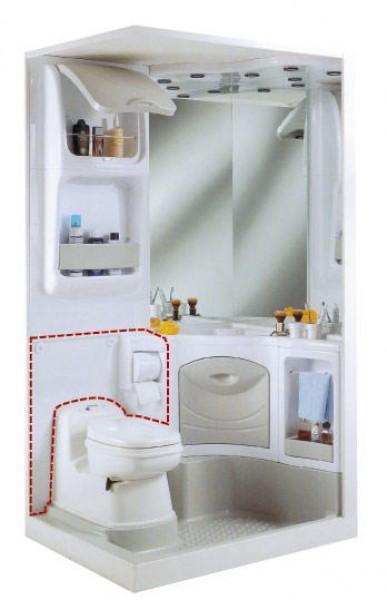 Rückwand für Waschbecken für Sanitäreinrichtung 2000