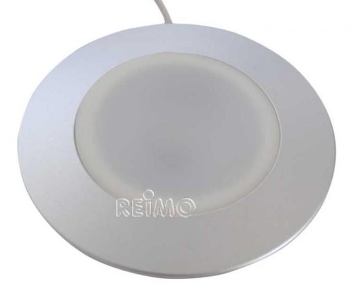 LED 12 Volt Einbaulampe Diskus 3 Watt Alu silber silber