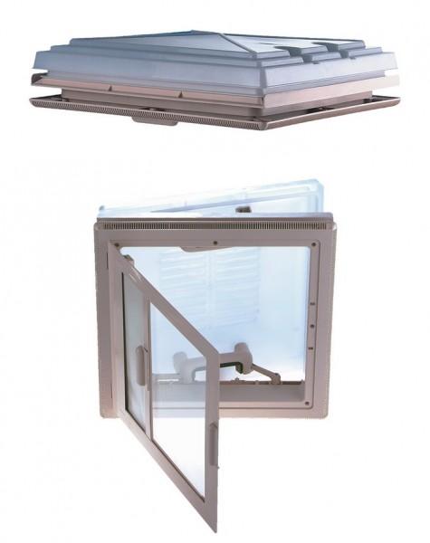 MPK Dachhaube 40 x 40 cm mit Innenrahmen weiß