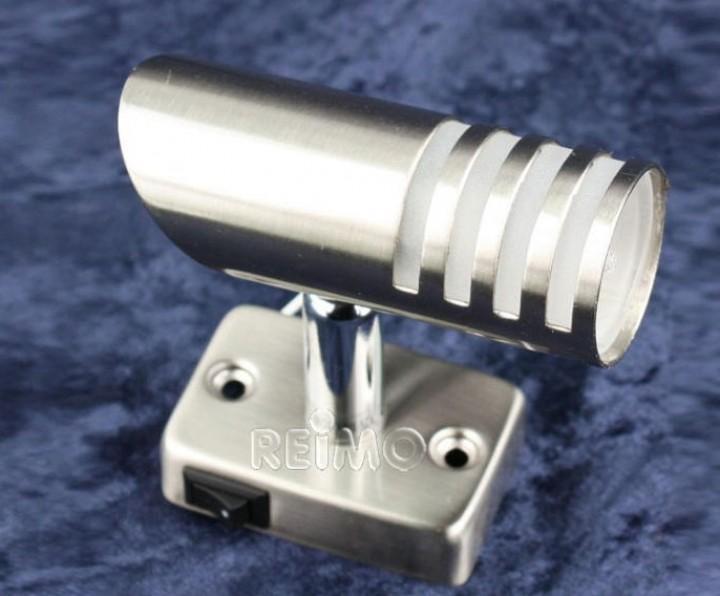LED-Aufbauspot 1W Power LED Nickel gebürstet mit Schalter