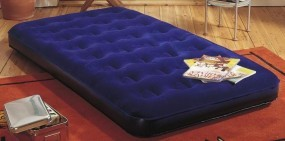 Velours-Luftbett Royal-Blue 185 x 76 x 22cm