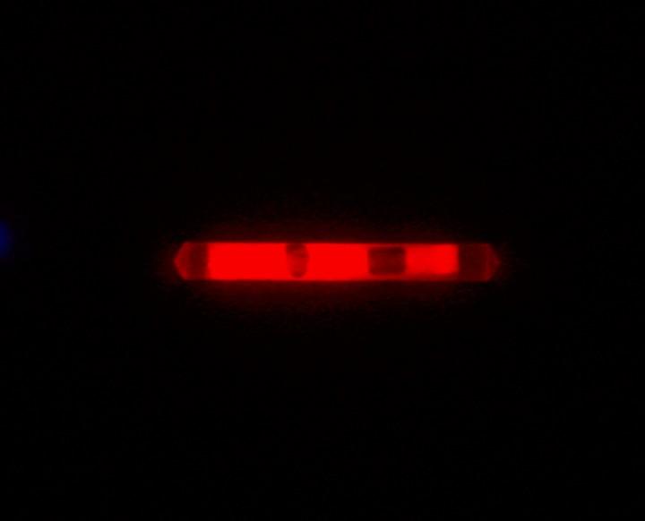 Knicklicht, 3,9 cm, Box mit 40 x 2 Stück rot