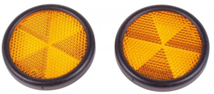 Reflektoren rund gelb selbstklebend