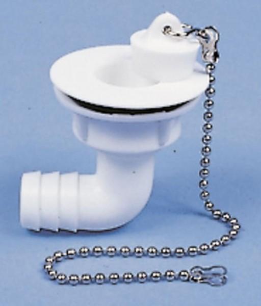 Wasserablaufgarnitur gewinkelt Schlauch 19 mm