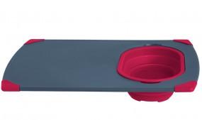 Collaps Serie rot Schneidebrett mit Auffangschale