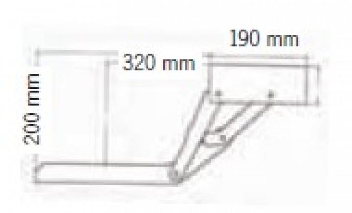 12 Volt Trittstufe 55 cm breit mit Motor rechts Project 2000