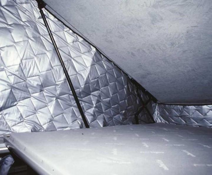 Thermomatten für Klappdächer VWT5 KR Easyfit vorne hoch