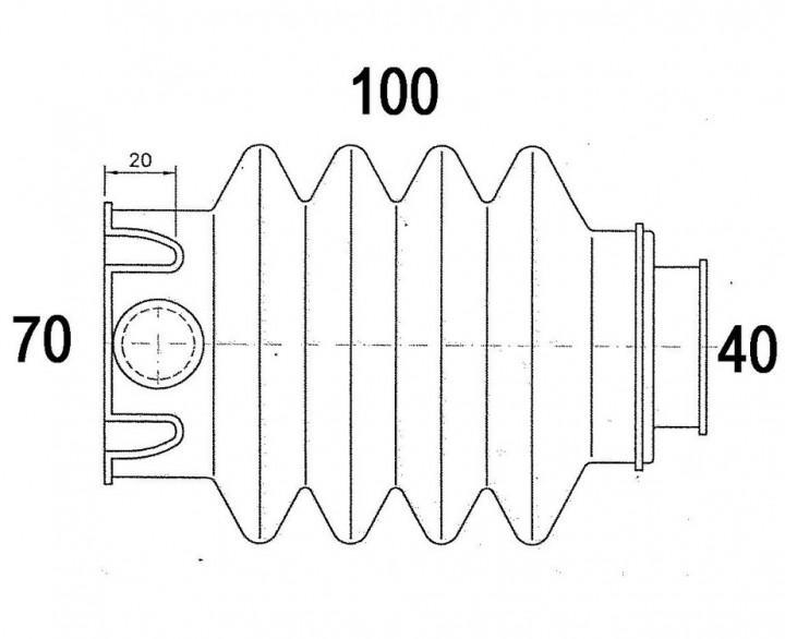 Faltenbalg WS 3000 für Auflaufvorrichtung