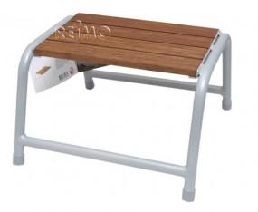 Trittstufe Aluminium mit Holzauflage