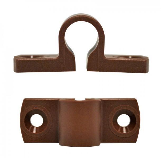 Führungsschlaufe 28 x 8 x 14 mm braun für PUSH-Lock-Drehstangenschloss