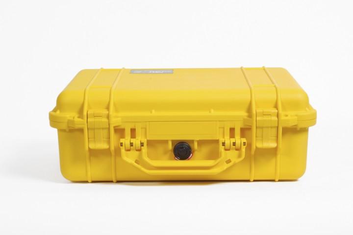 Pelibox 1500 gelb mit Schaumeinsatz