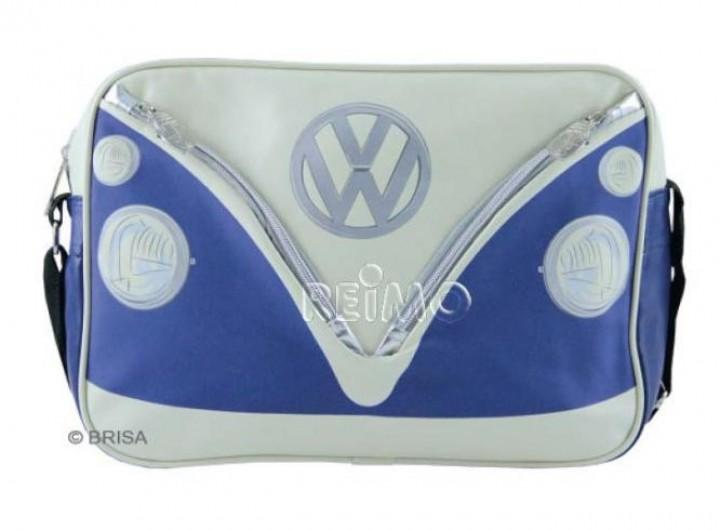 VW Collection Schultertasche VW Bulli Querformat blau