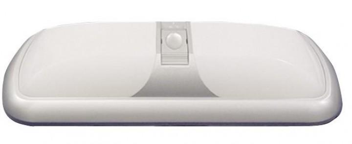 Deckenleuchte Modern doppelt mit 3-Stufenschalter weiß 12 Volt