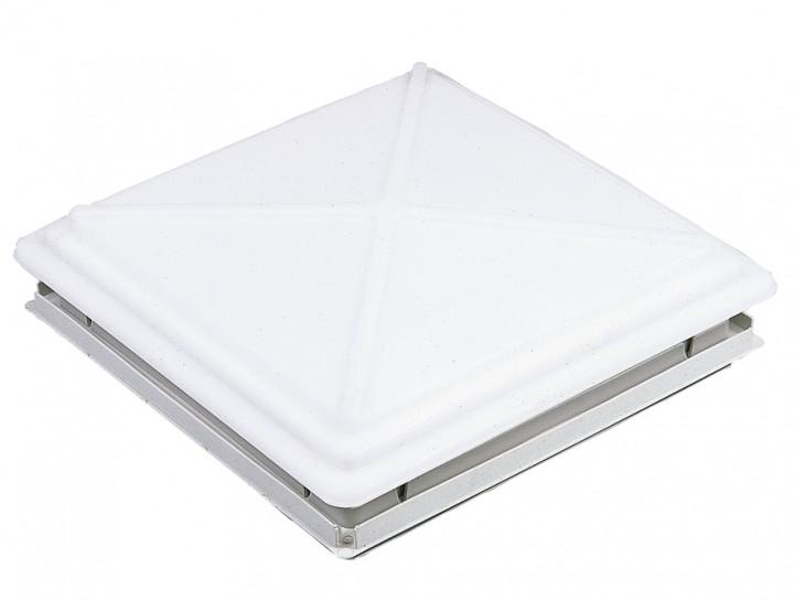 MPK Dachhaube 40 x 40 cm mit Verriegelung und Moskitonetzrahmen grau