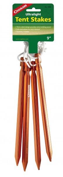 Coghlans Alu Zelt Heringe ultraleicht 23 cm 4er Pack