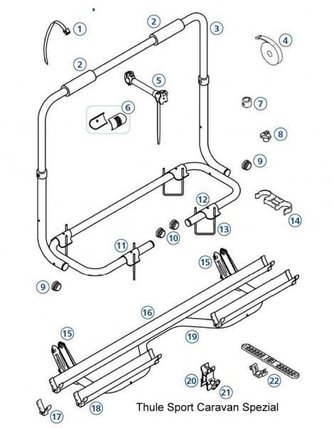 Endkappen für Thule|Omnibike-Schienen - Endkappe Y-Schiene Omnibike, 4 Stück