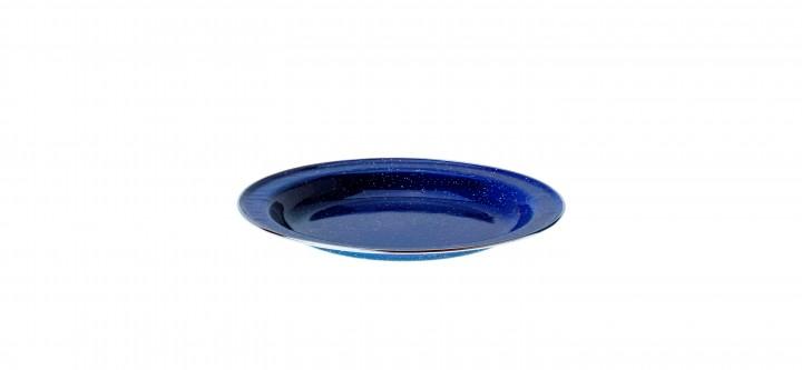 Relags Emaille Teller flach, 25 cm, blau