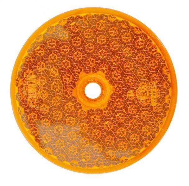 Reflektor R86 rund 60 mm orange schraubbar