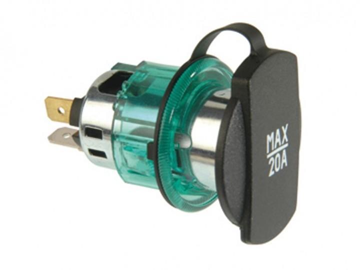 Power-Steckdose ohne Montageplatte 12–24 Volt