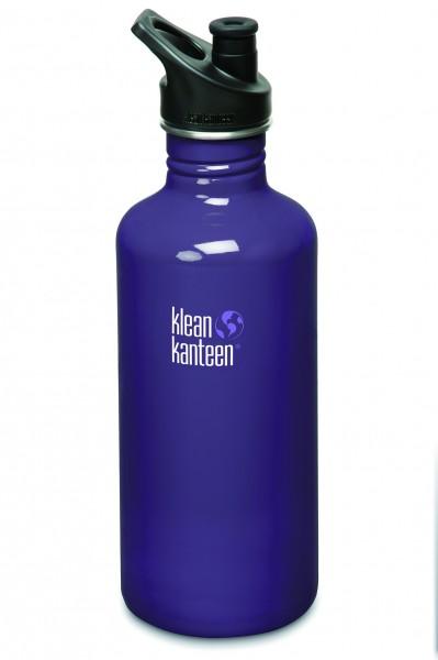 Klean Kanteen Flasche 'Classic' Sports Cap violett, 1,182 L