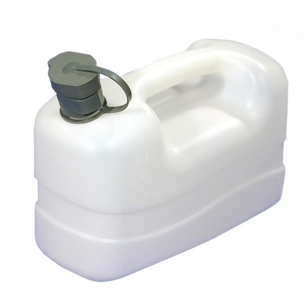 Wasserkanister mit Ausgießtülle 5 Liter ohne Ablasshahn