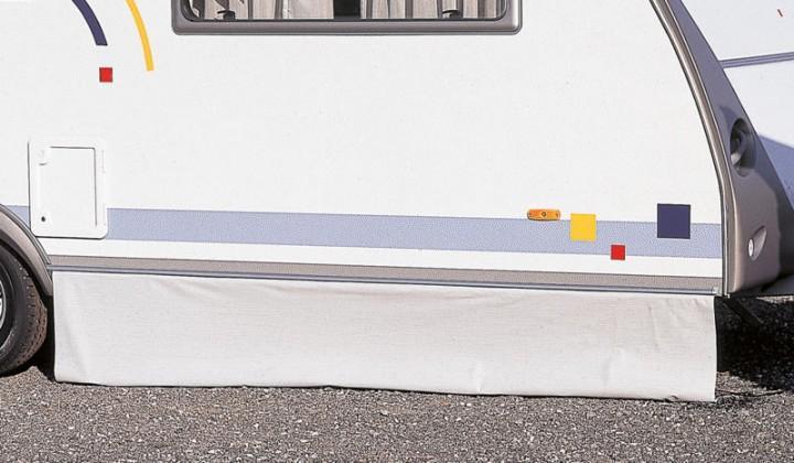 Bodenschürze Premium, Höhe 75cm, dunkelblau. Lfd. Meter
