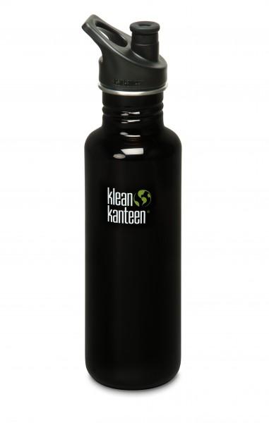 Klean Kanteen Flasche 'Classic' Sports Cap schwarz, 0,8 L