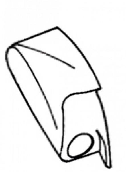 Endkappe links Thule Omnistor 6502 / 6802 / 6900 weiß