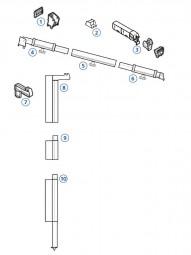 Mast-Oberteil 114cm links Safari Residence Serie 8